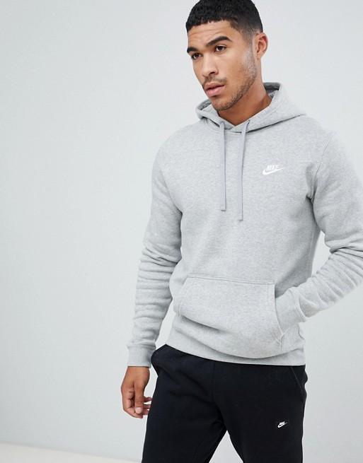 Conmoción consumidor intersección  Nike Club Hoodie In Gray   ASOS   Mens sweatshirts hoodie, Nike clothes  mens, Nike pullover hoodie