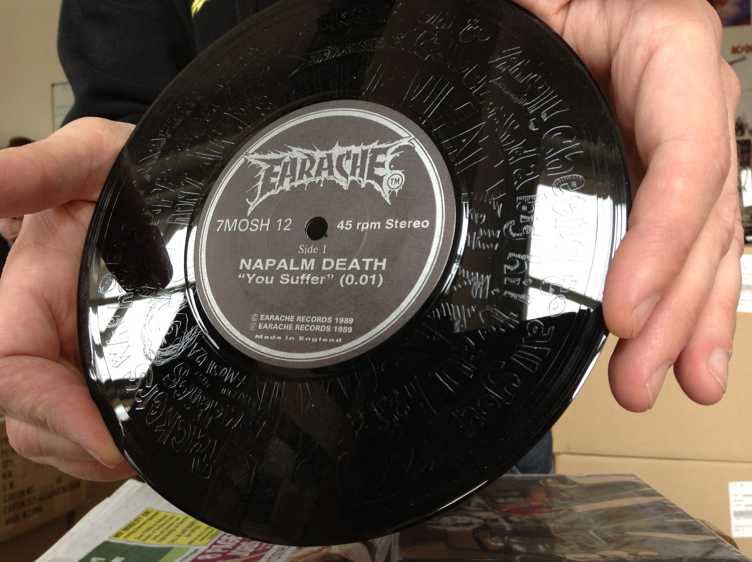 The Limited Edition Napalm Death You Suffer Vinyl With