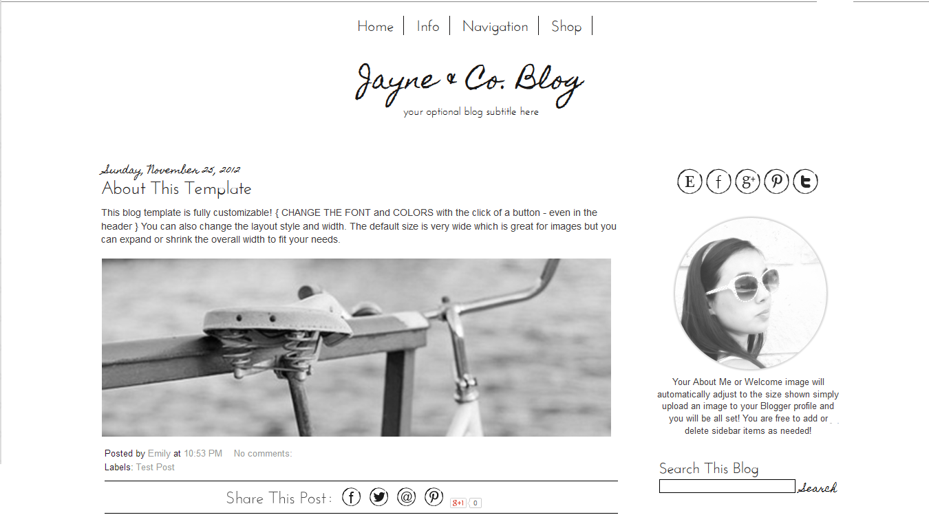 Jayne Co Template Pretty Things Pinterest Mobile Responsive