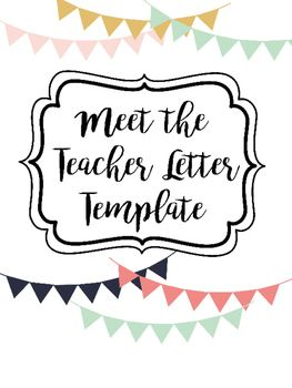 this is an editable meet the teacher template in english
