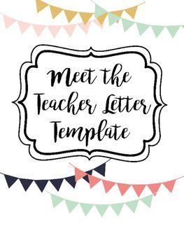 letter template meet the student teacher  Meet the Teacher Letter Template | Letter to teacher, Meet ...