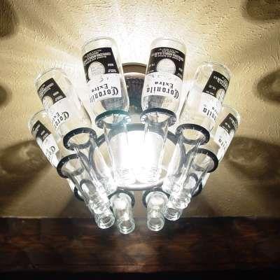 Beer Bottle Decoration Beer Bottle Decor  Empty Chandeliers And Men Cave