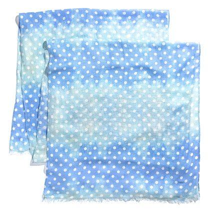 Dotted Ombré Scarf  color: hydrangea   #KedsXMadewell