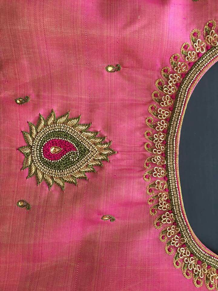 Design Hand Embroidery Pinterest Blouse Designs Design And