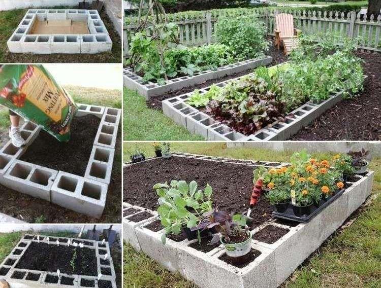 Bloc b ton pour la d co de jardin en 30 id es cr atives for Idee terrassement exterieur