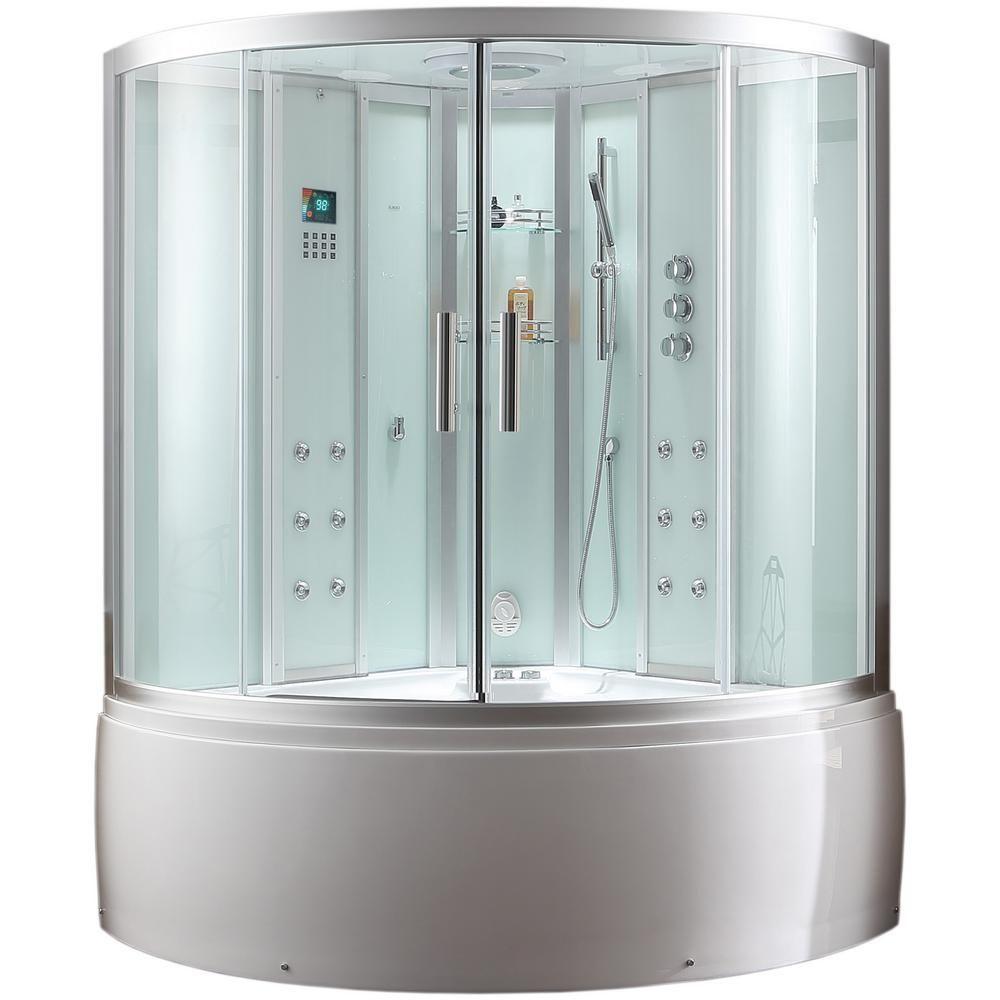 Ariel Platinum 59 In X 89 In X 59 In Steam Shower Enclosure Kit