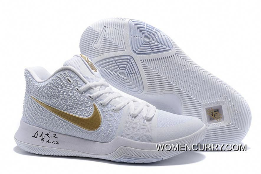 "new arrival beb04 edccf ""White Ice"" Nike Kyrie 3 White Gold Men s Basketball Shoe New Release,  Price   88.79 - Women Stephen Curry Shoes Online"