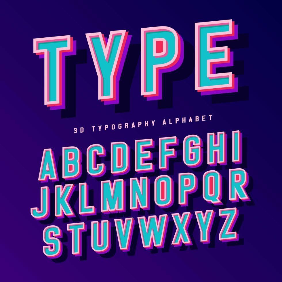 3D Typography Alphabet #3dtypography 3D Typography Alphabet #3dtypography