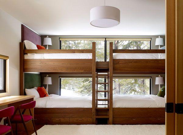 Platzsparende Wohnideen Schlafzimmer kinderzimmer mit hochbett coole platzsparende wohnideen