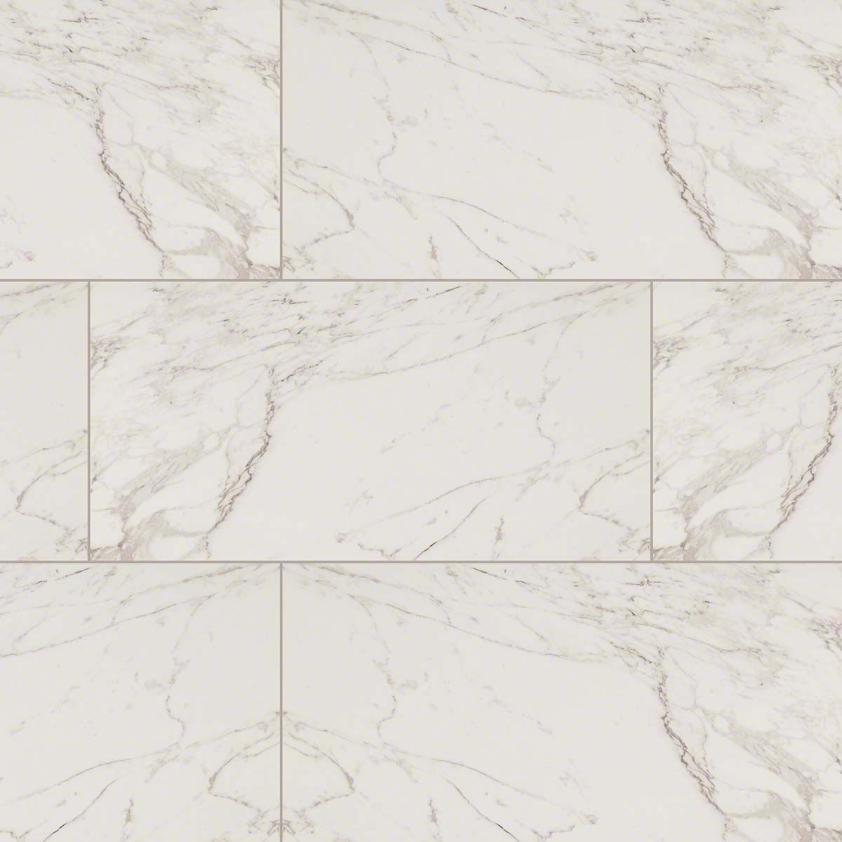 Msi Pietra Series Carrara Marble Look Porcelain Tile In Polished Finished Size 12