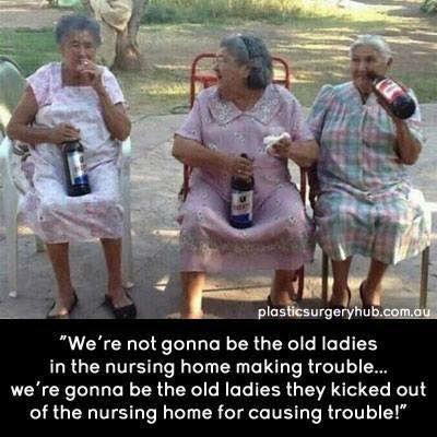 alte Dame beste Freunde