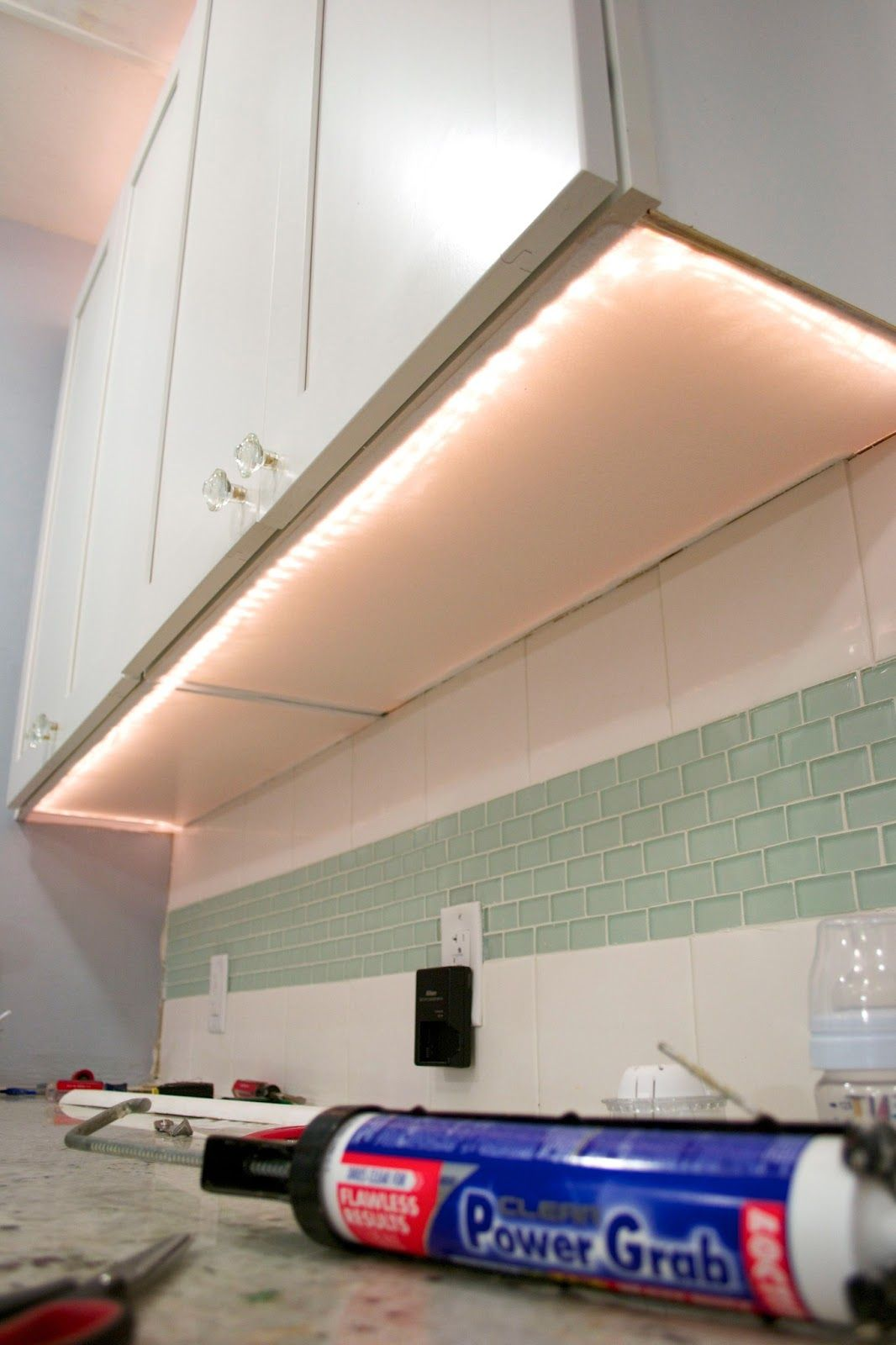 You May Recall That We Added A Lot Of Accent Lighting To Our Kitchen Including Rope Lights On The Undersi Rope Lighting Kitchen Diy Rope Lights Accent Lighting