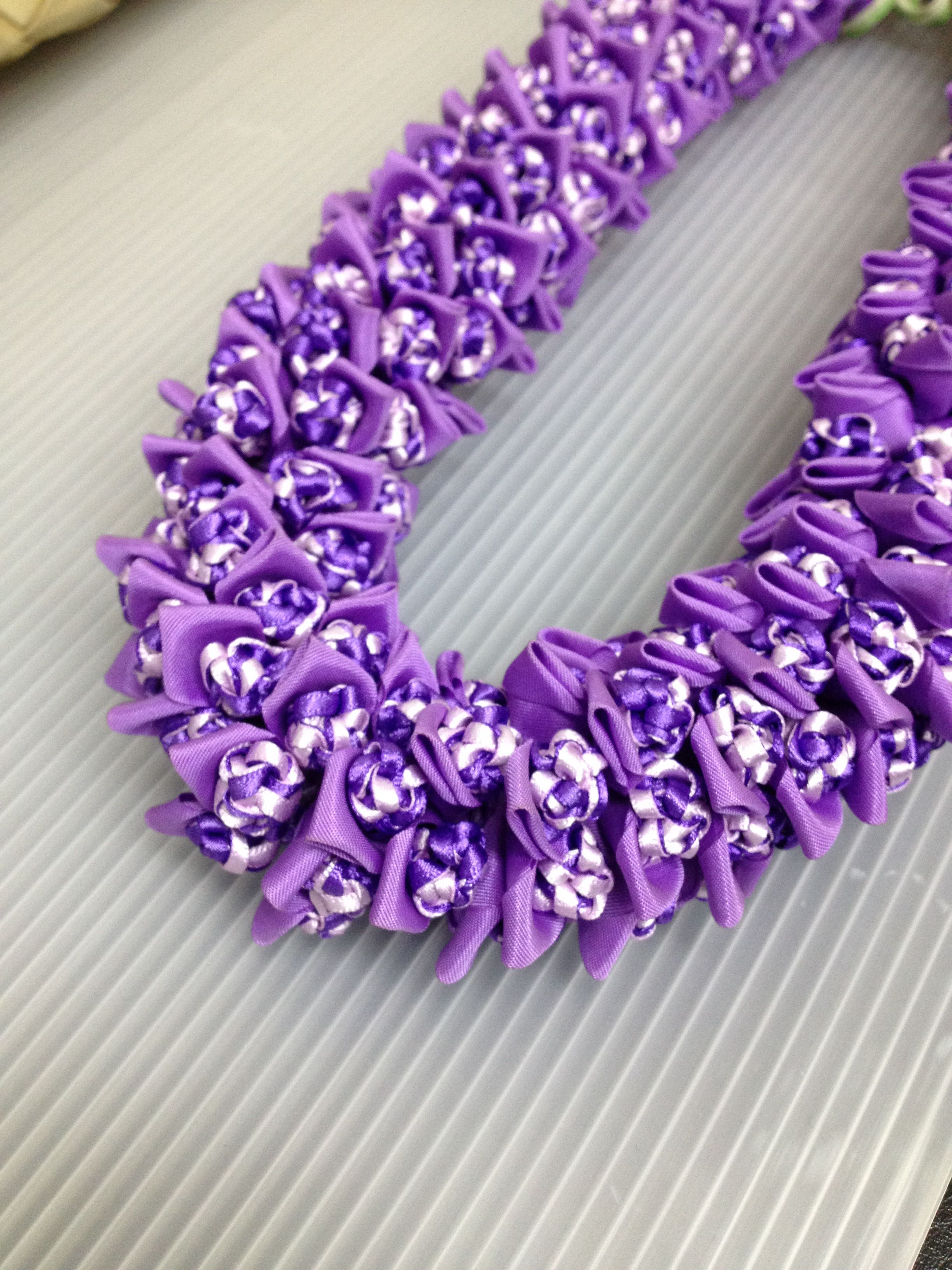 Crown Flowerribbon Lei Designed By Tracy Harada Uimauamau