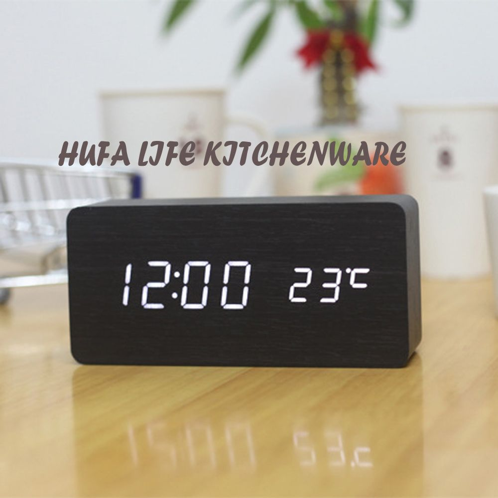[Free Shipping] Buy Best Modern Style LED Digital Alarm Clock Wooden