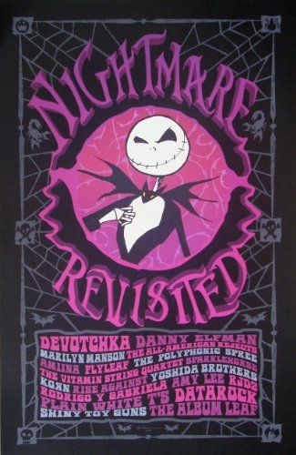 Nightmare Before Christmas Revisited - Poster - Rare - Danny ...