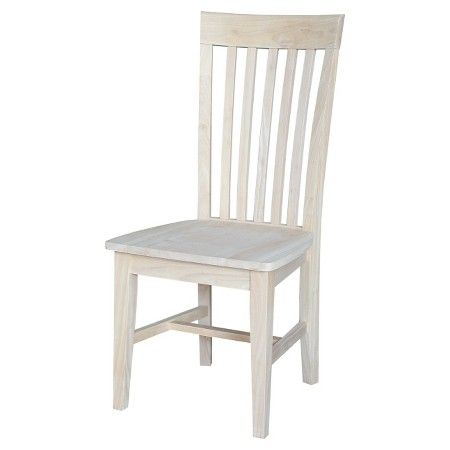 Mission Chair Wood/Unfinished (Set of 2) - International Concepts : Target