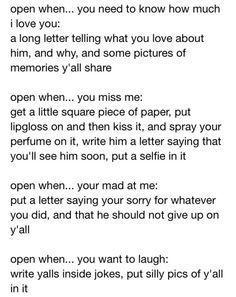 Open When Letter For Boyfriend  Google Search  The Feels