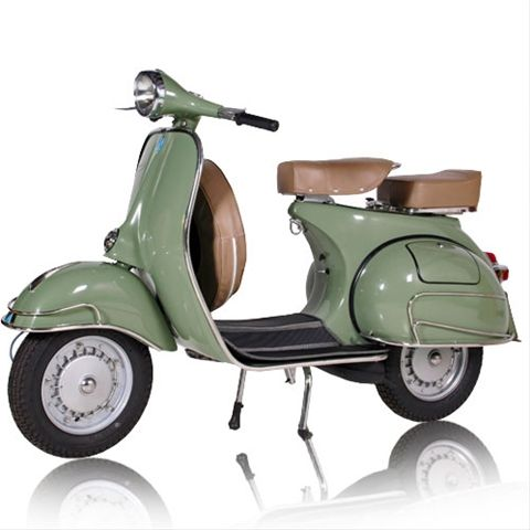 retro green vespa two seater for the garage pinterest vespa scooters and vintage vespa. Black Bedroom Furniture Sets. Home Design Ideas
