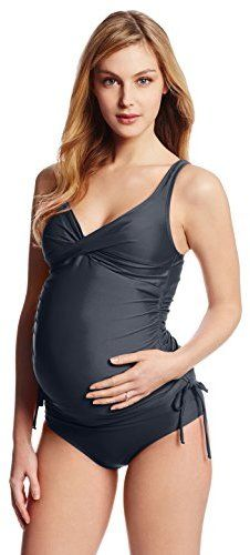 4f3db21d139 Maternal America Women's Maternity Ruched 2 Piece Tankini ...