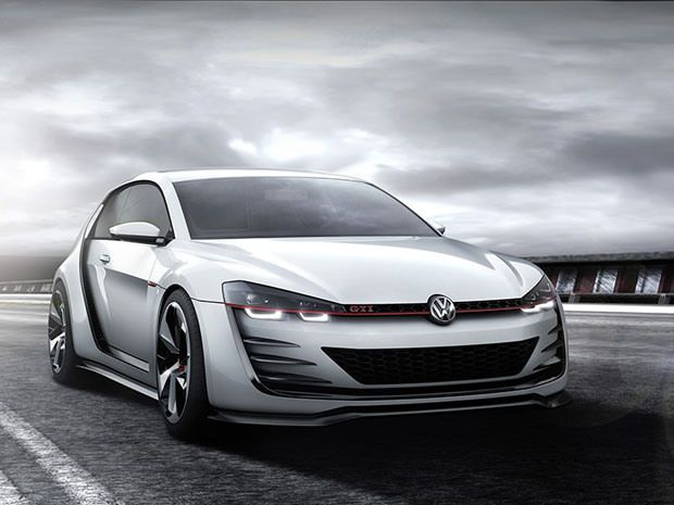 Volkswagens Design Vision GTI pumps out a whopping 503-horsepower from its turbocharged 3.0-litre V6 engine. #cars #Volskwagen