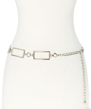 Another great find on #zulily! Silvertone Square & Circle Chain Link Belt #zulilyfinds