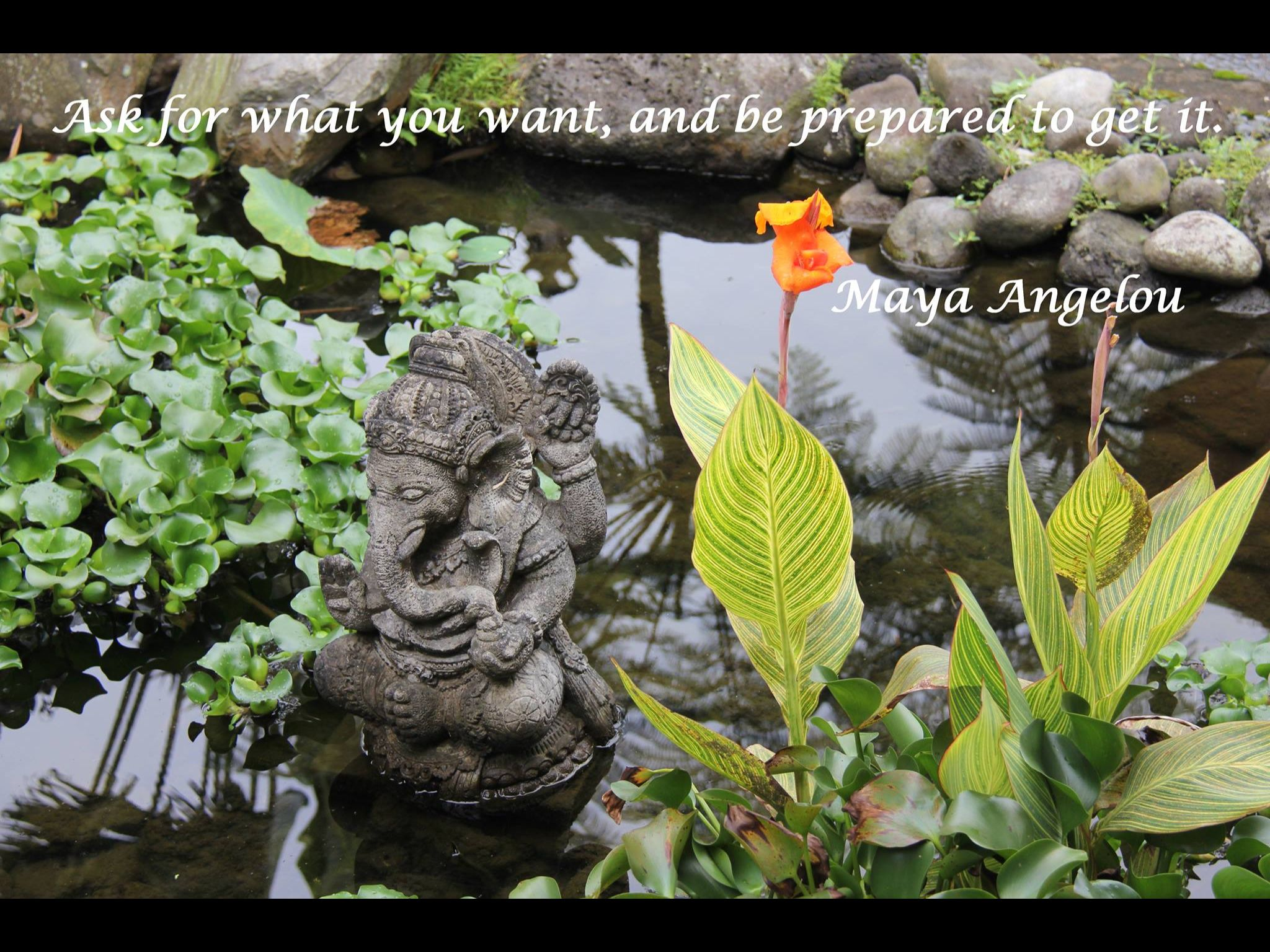 Ask for what you want, and be prepared to get it. Maya Angelou