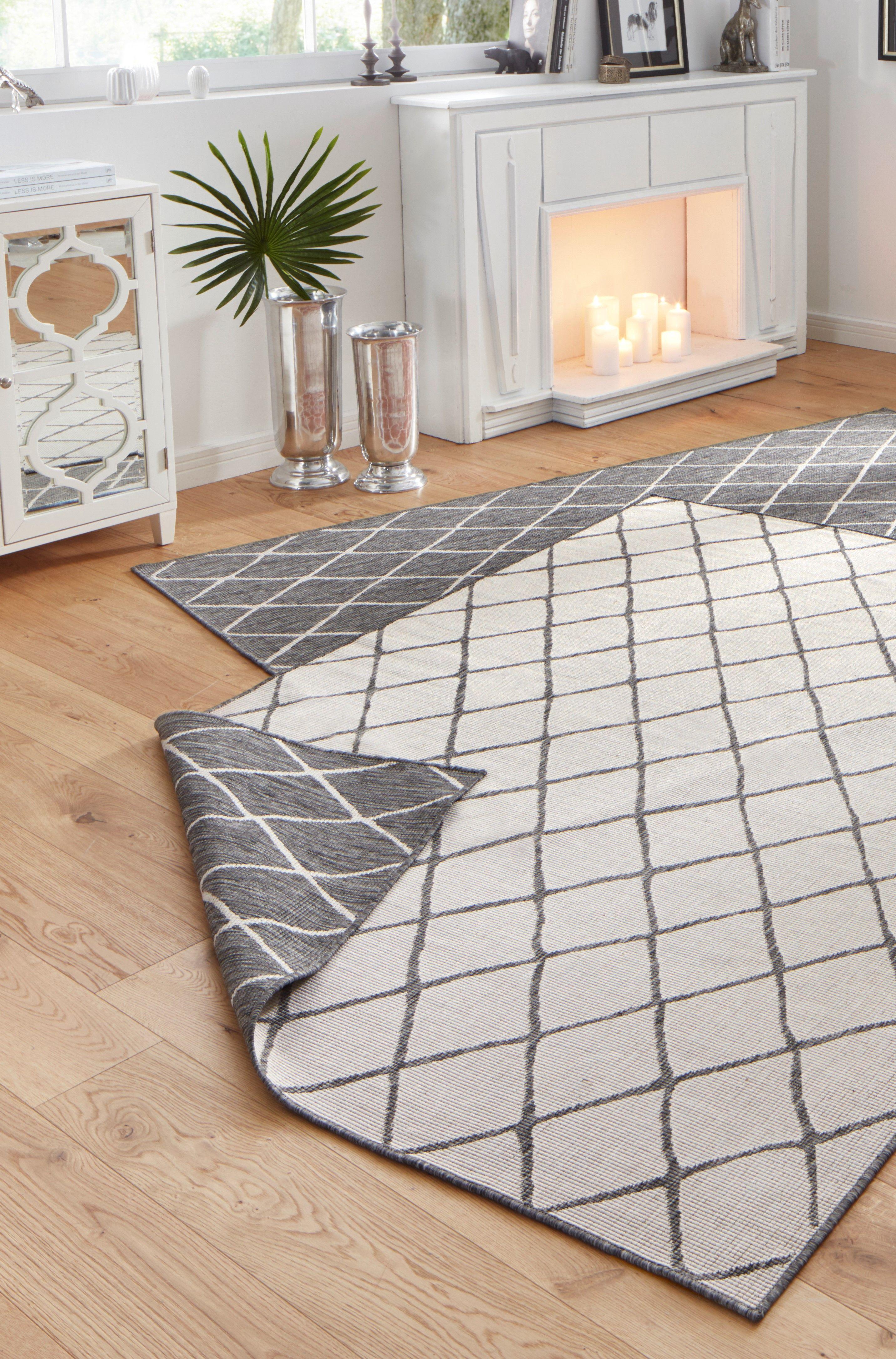 Malaga Light Grey Reversible Rug Grey And White Rug White Rug Living Room White Rug