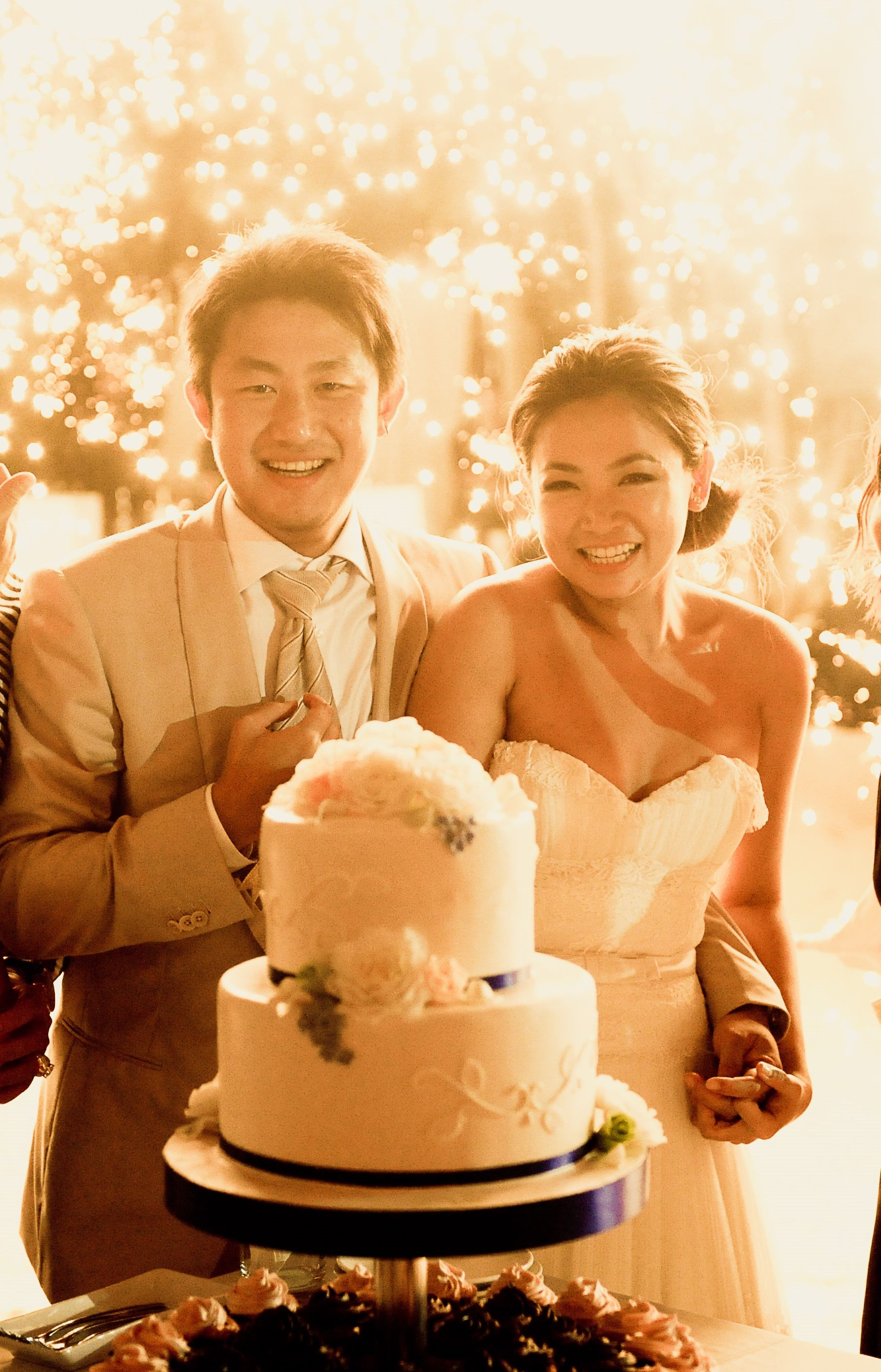 Beautiful #wedding #cake cutting with blasting #Pyrotechnic at the ...