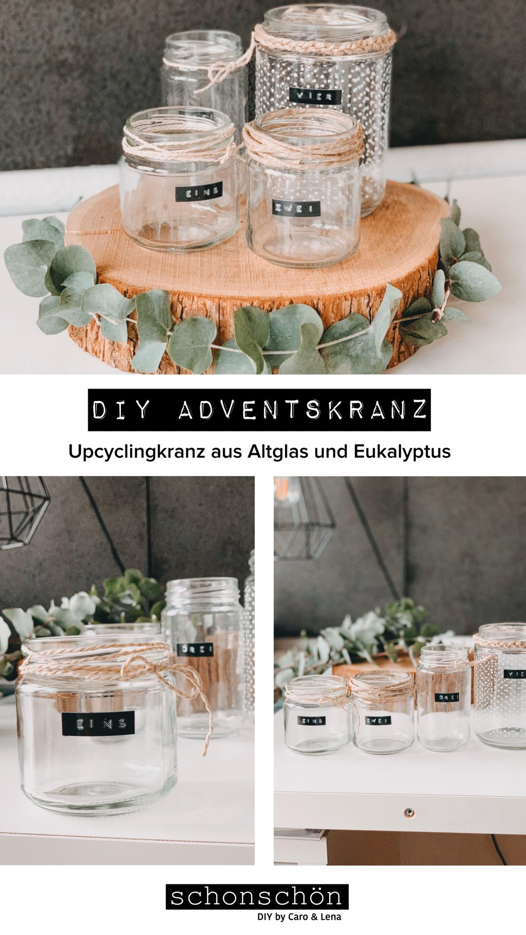 DIY Adventskranz Upcyclingkranz