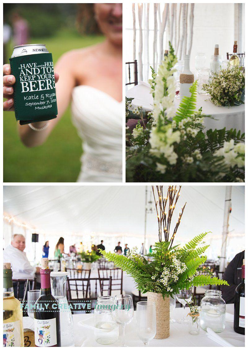 Rustic farm wedding - simple green fern centerpieces | Wedding ideas ...