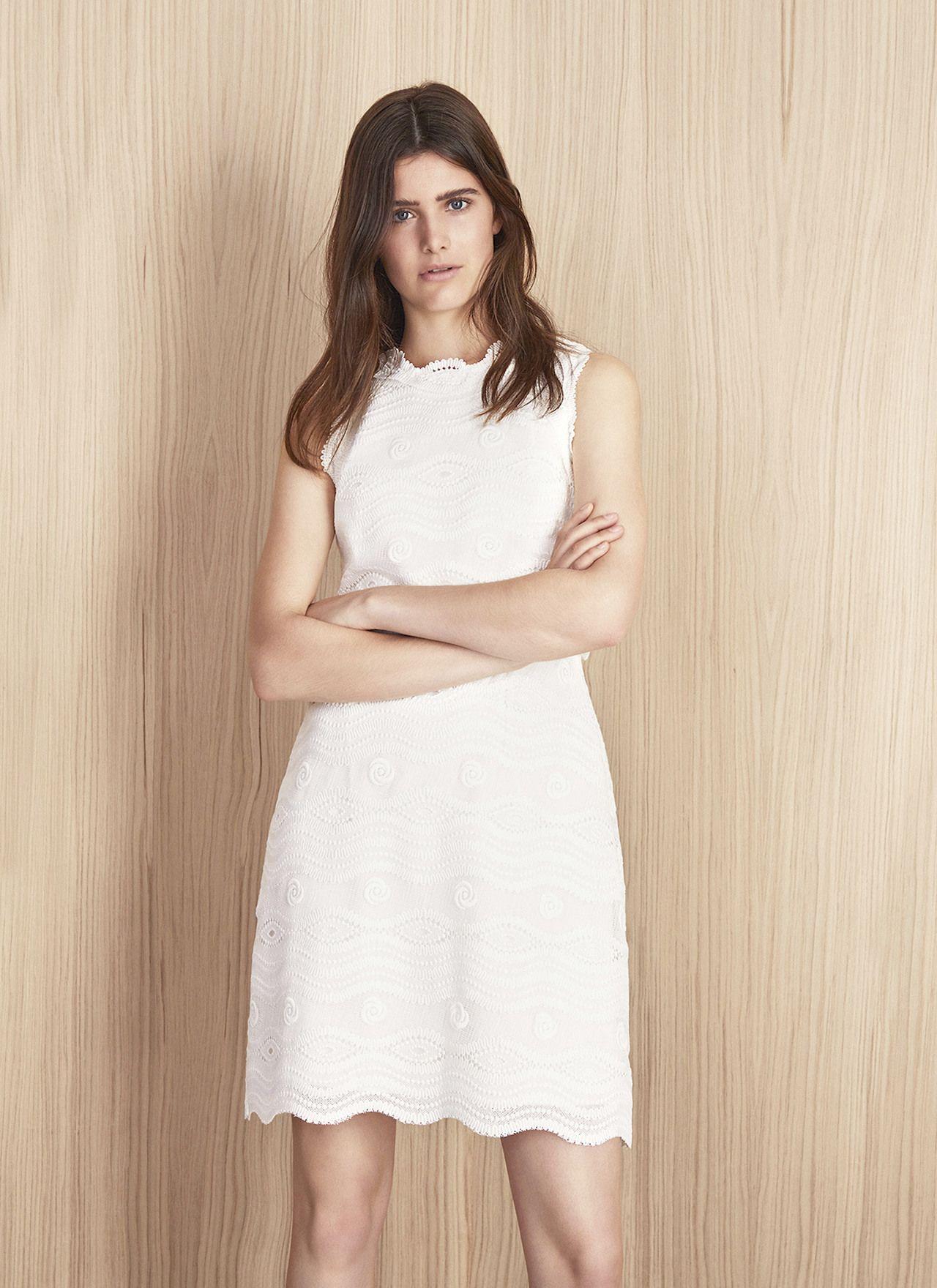 Vestido corto con escote caja vestidos adolfo for Vestidos adolfo dominguez outlet online