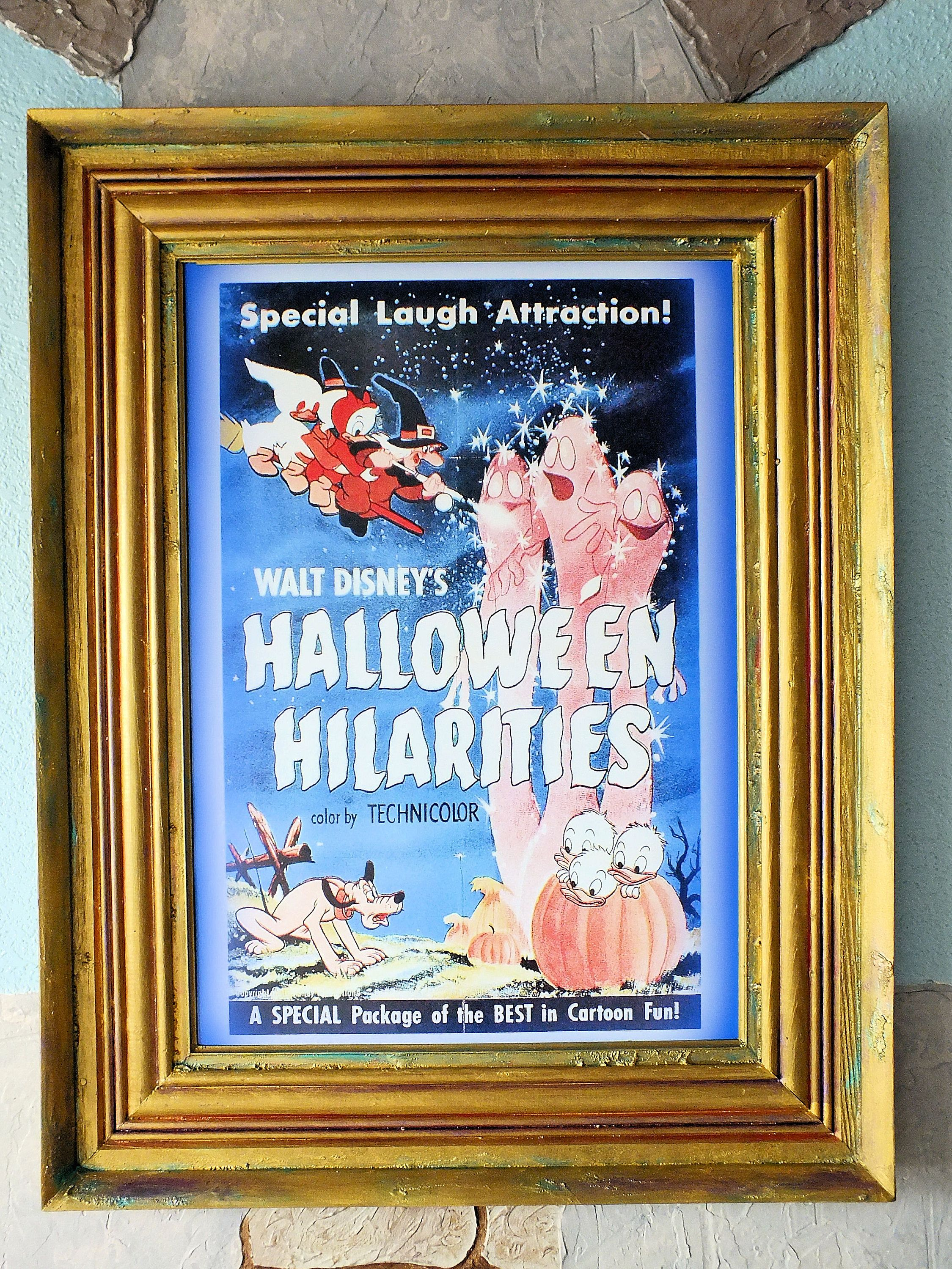 16 24 Disney Collectible Halloween Hilarities Reproduction Framed ...