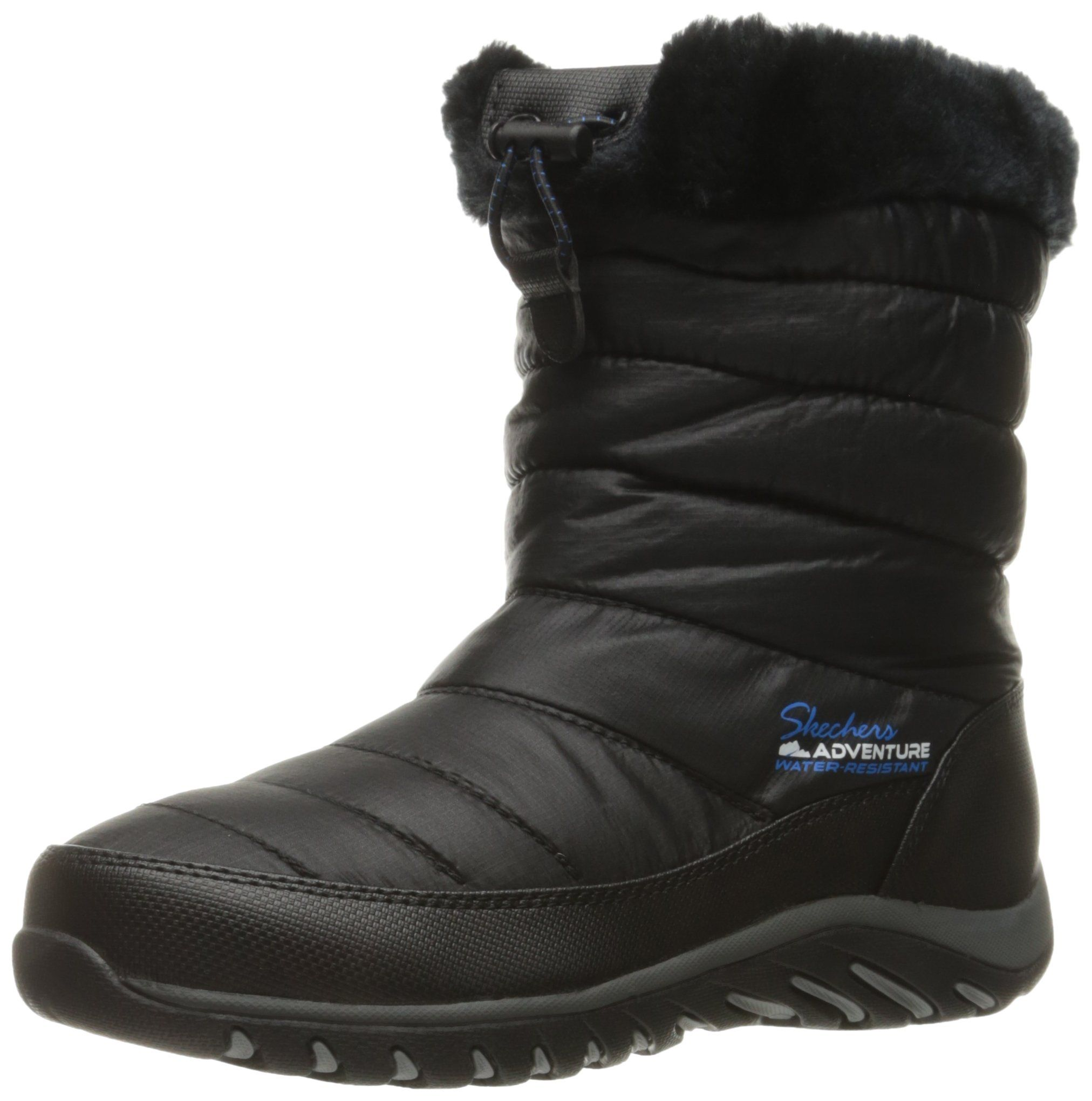 Skechers Women's Descender Winter Boot, Black, 6.5 M US. Warm tech memory  foam