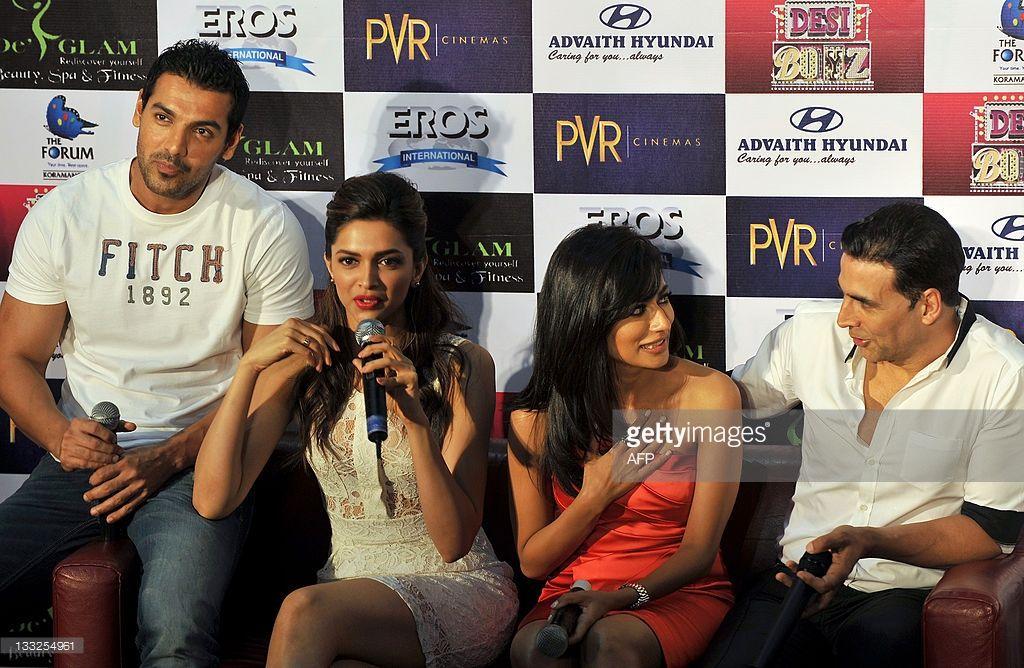 Bollywood actors John Abraham, Deepika Padukone ...