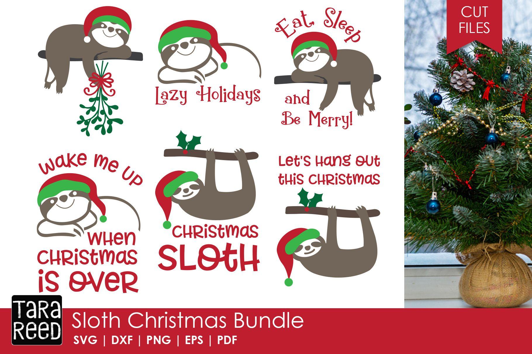 Sloth Christmas Christmas SVG Files for Crafters