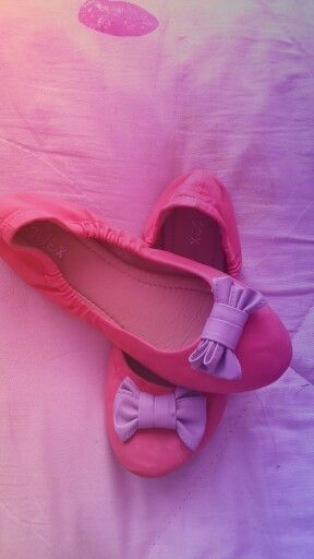 #Dreamy #Pretty #Cute #Sweet #Bow #Pink #Flats #Shoes