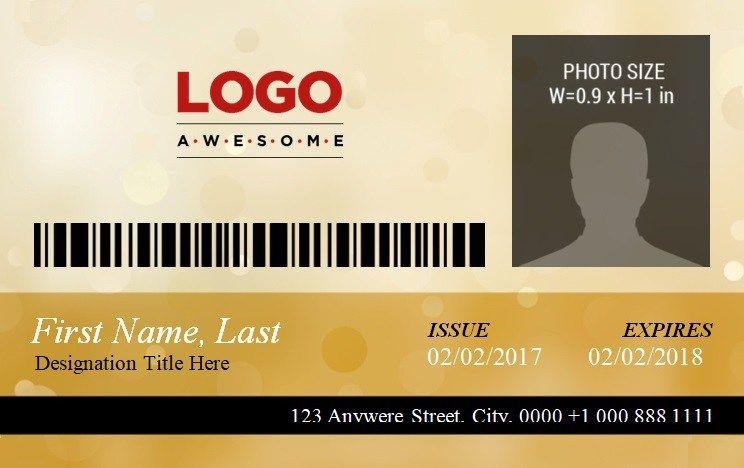 Id badge template 3 id card template badge template id