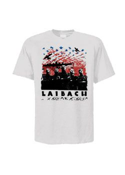 Laibach - Over The USA T-Shirt - Goth Industrial Punk T-shirts.