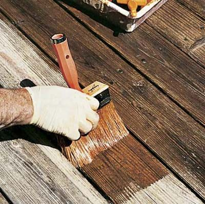 How To Restore A Weathered Deck Diy Deck Staining Deck Exterior Stain