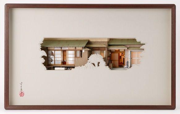 紙の向こうにある家 山岡進の起こし絵 絵 家 デザイン