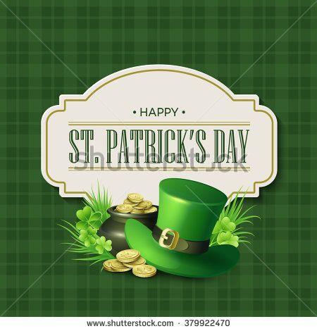 St. Patricks Day vintage holiday badge design. Vector illustration EPS10.  Día de San Patricio.