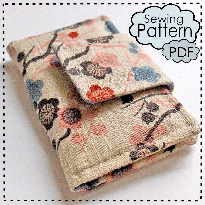 Sewing Pattern To Make A Business Card Wallet Pdf Email Delivery ...