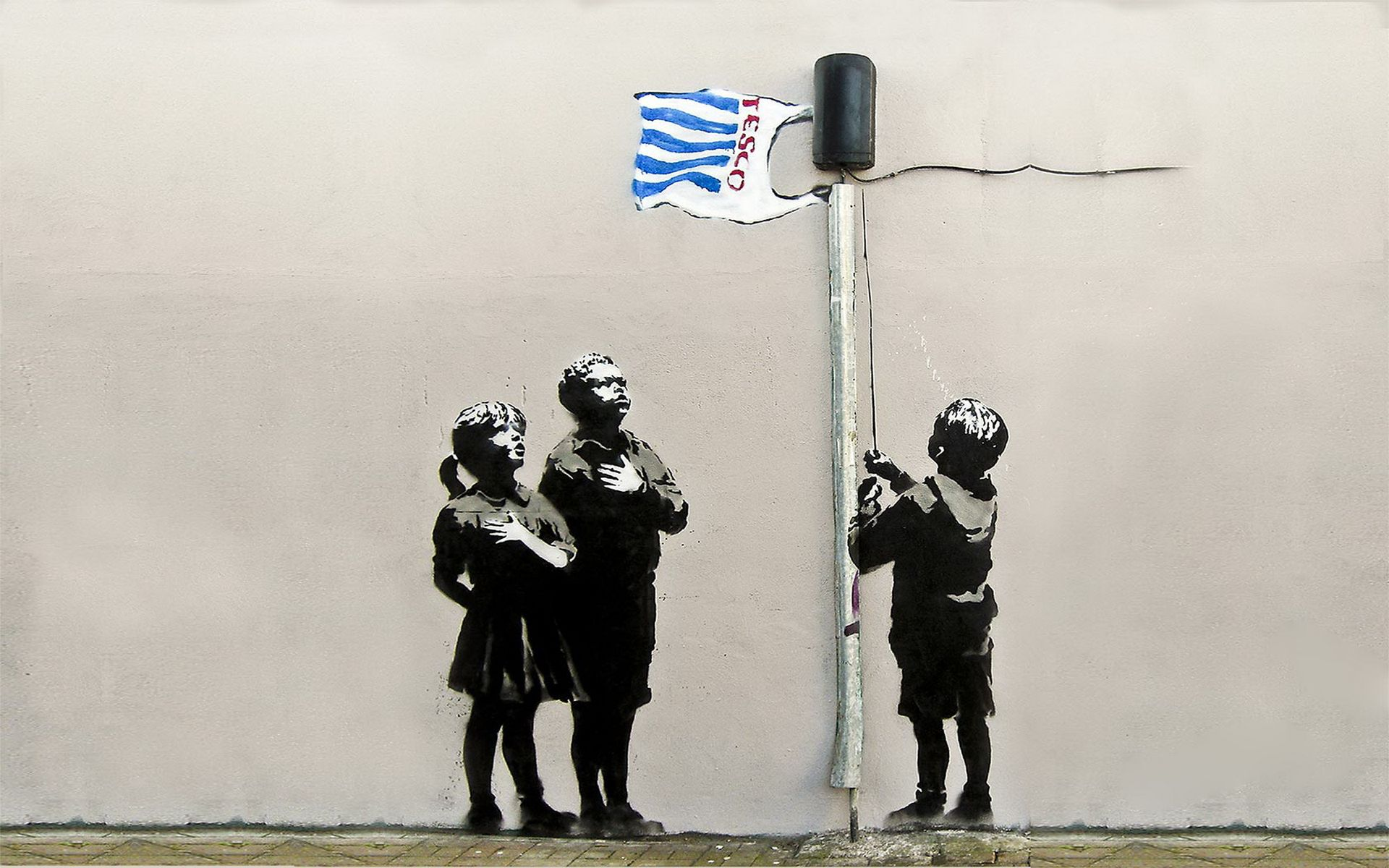 Leila Lopes Banksy Wallpapers 1024x952 36