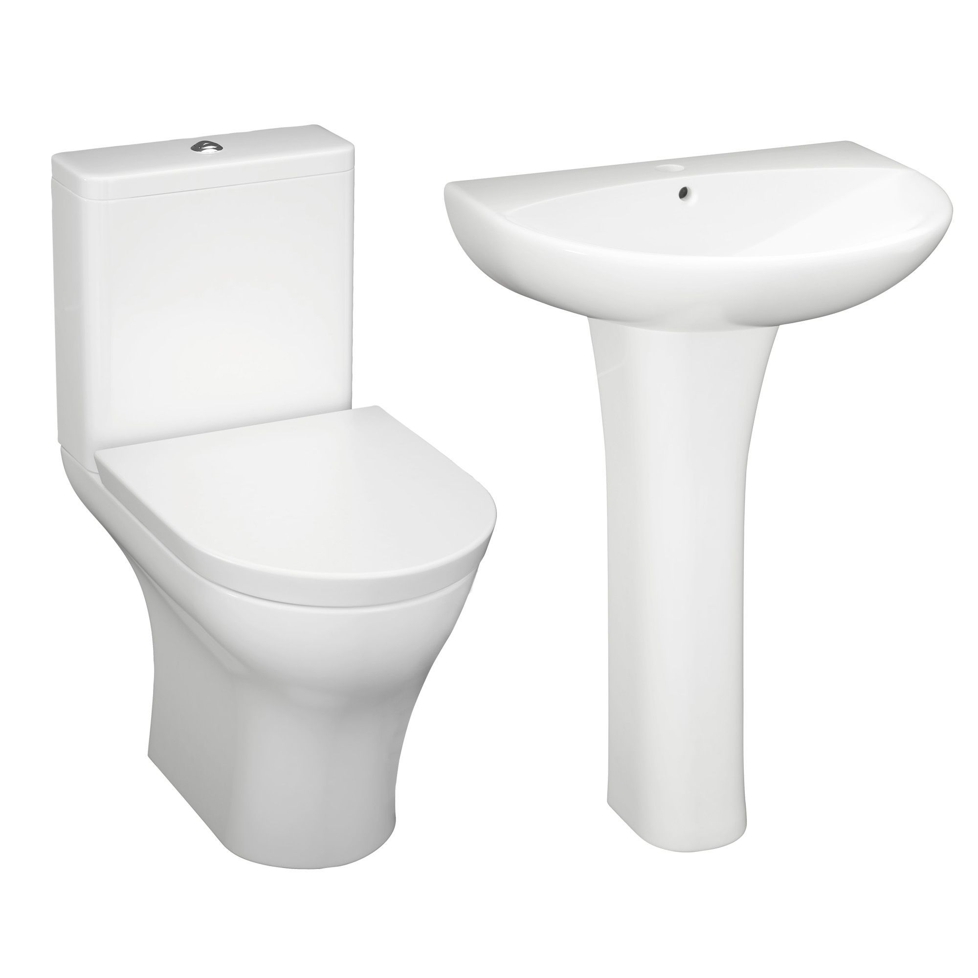 Cooke Lewis Angelica Close Coupled Toilet Full Pedestal Basin