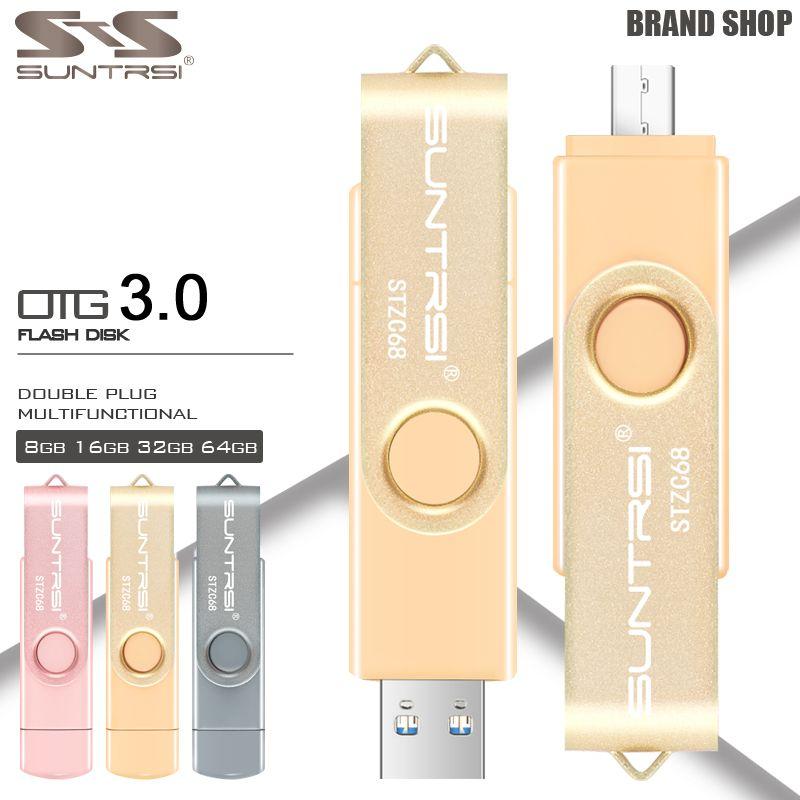 Suntrsi usb flash drive otg usb 3.0 externe opslag pendrive 16 gb 32 GB USB Stick Hoge Snelheid Pen Drive voor Android USB Flash