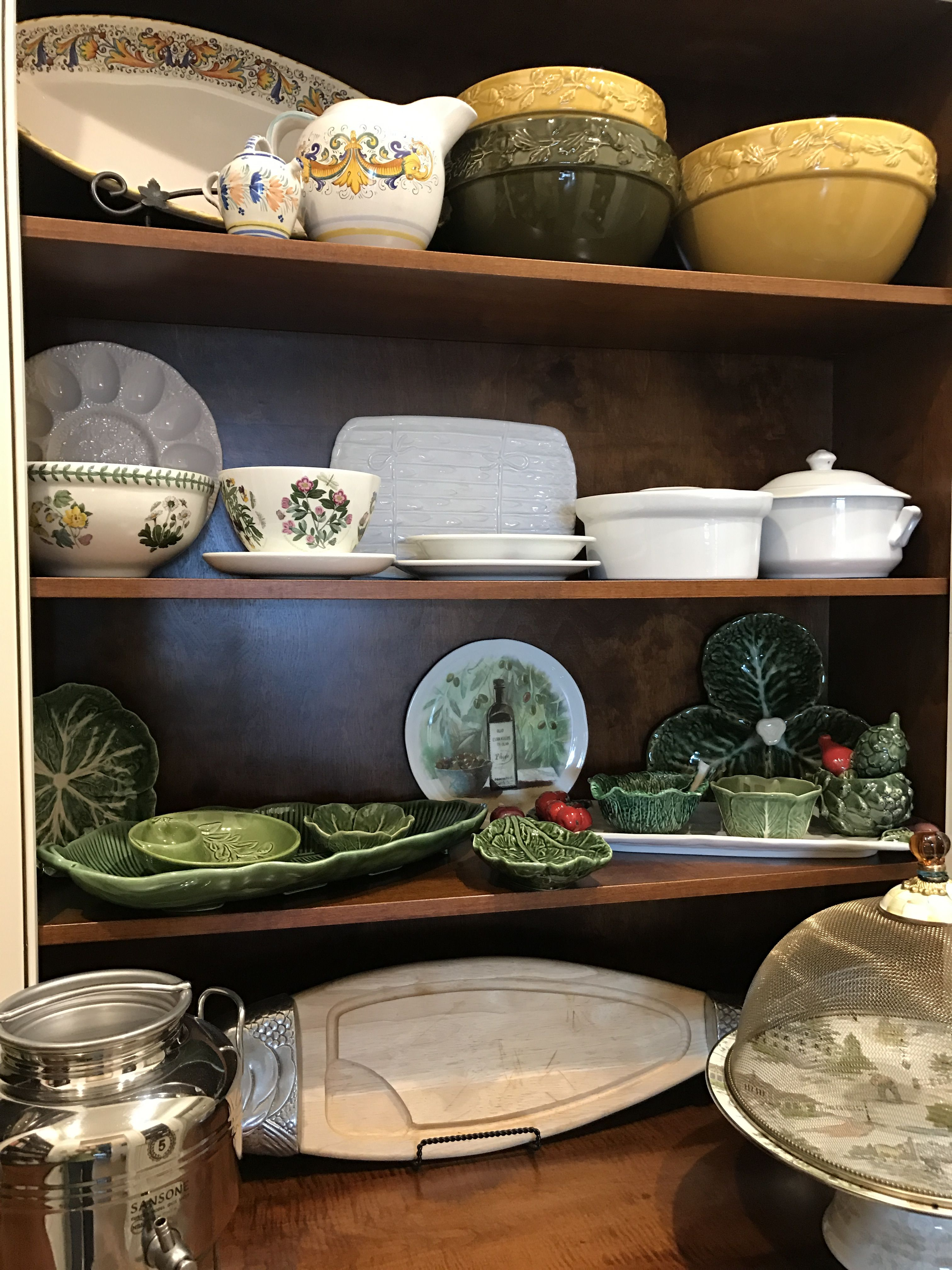 put your beautiful serving dishes on display in a well organized pantry decor pantry on kitchen organization dishes id=81033