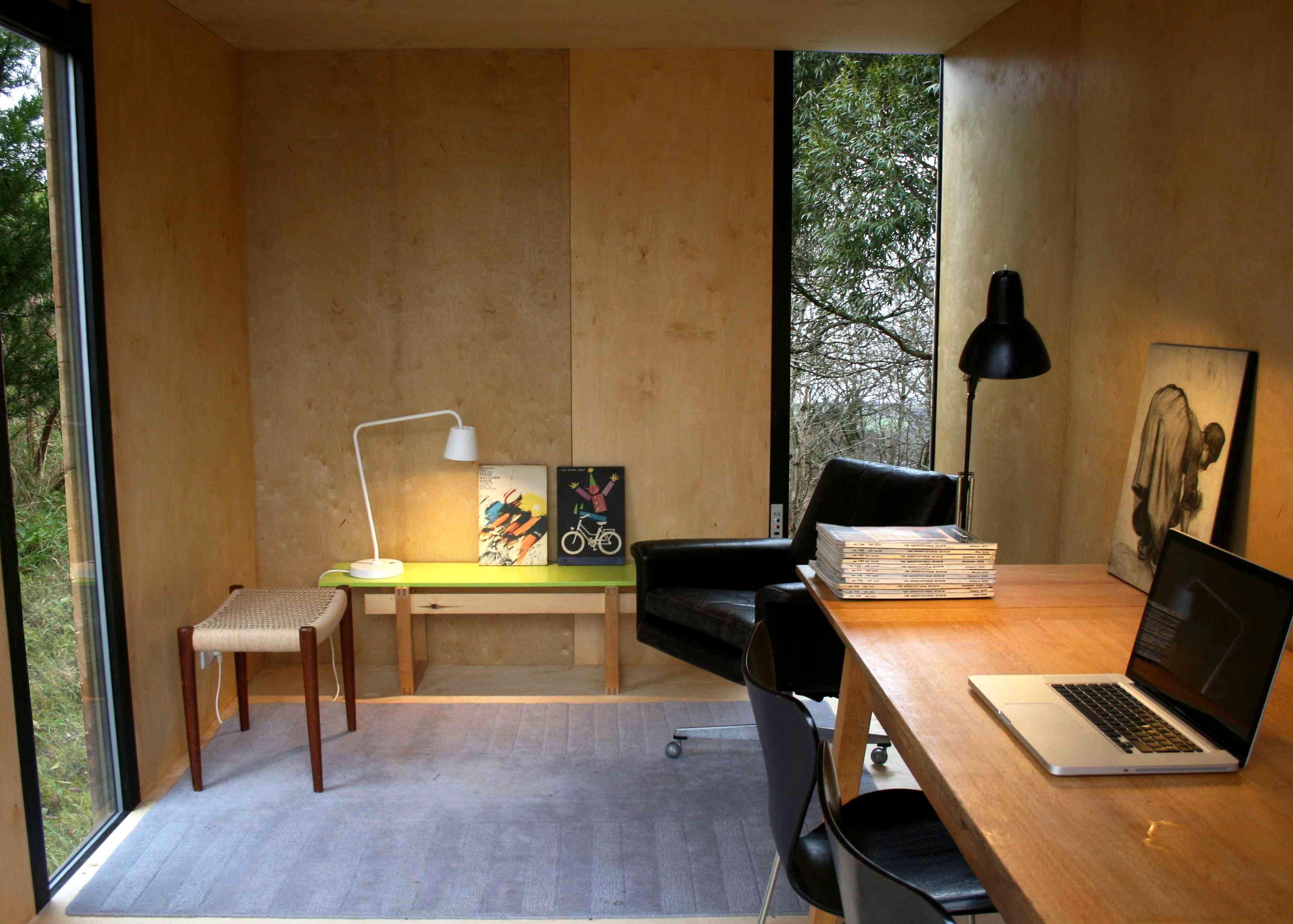 Mokki Garden Room Model 3 Interior Oiled Birch Faced Plywood