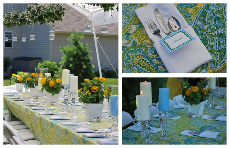 Kelly Lyden From WH Hostess Recently Styled A Southern Bbq Anniversary Party Using Color Palette Of Yellow Green And Blue This Is Full