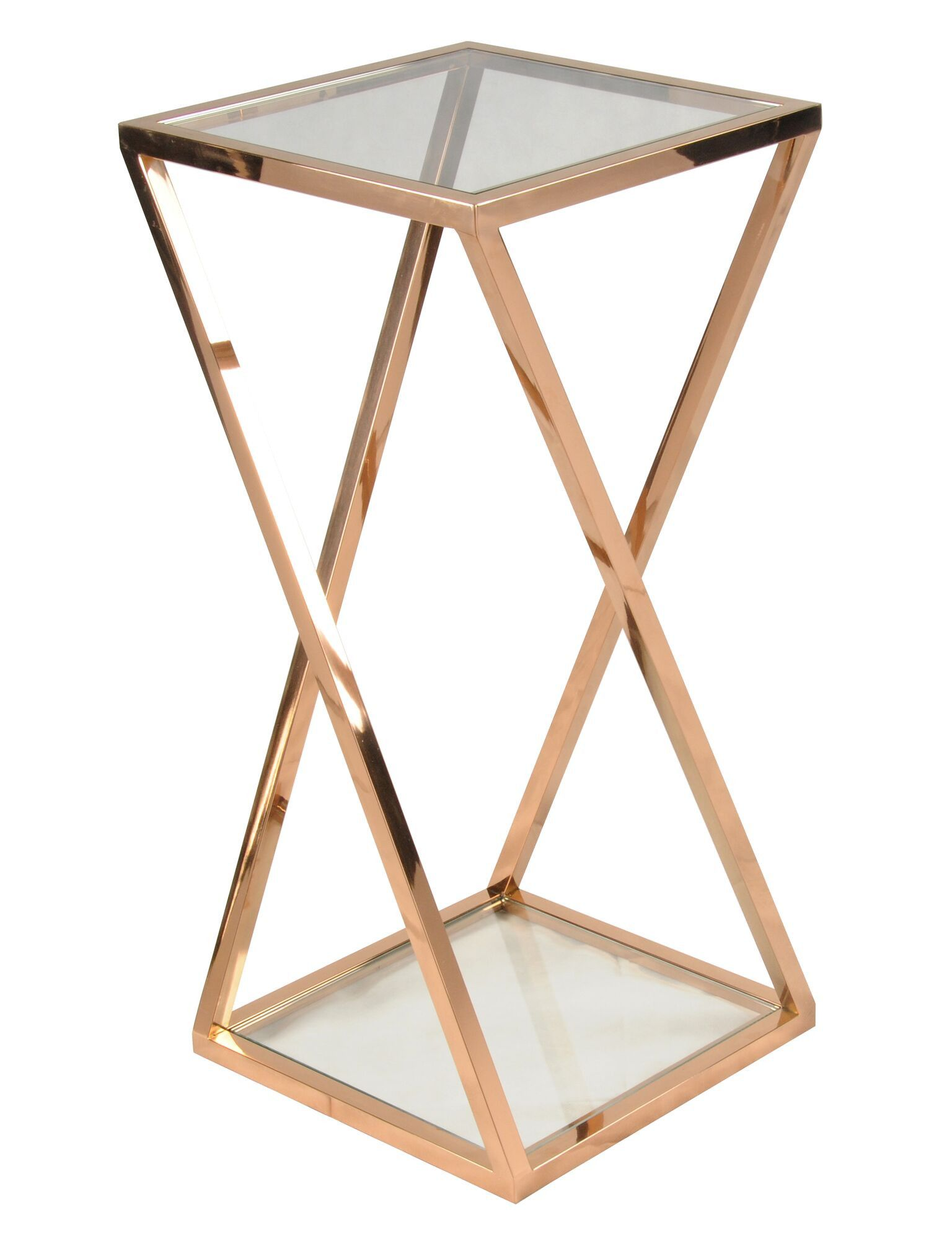 villa park side table rose gold tall