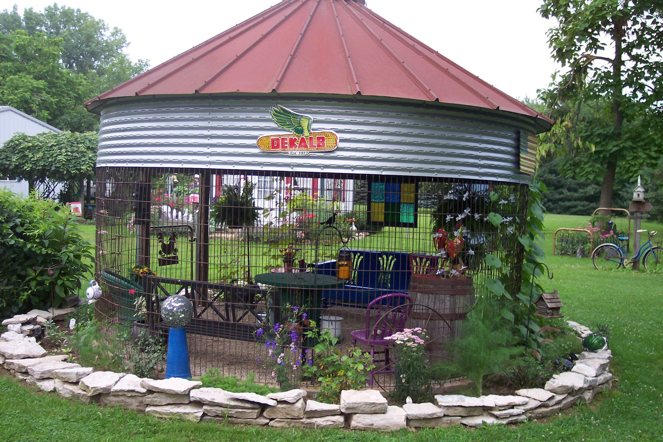 The Corn Crib Gazebo Garden Rustic Repurposing Garden